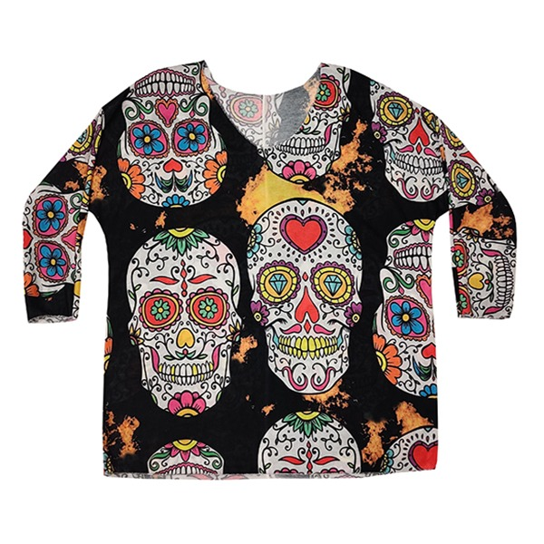 New Collection neule Skulls Party musta