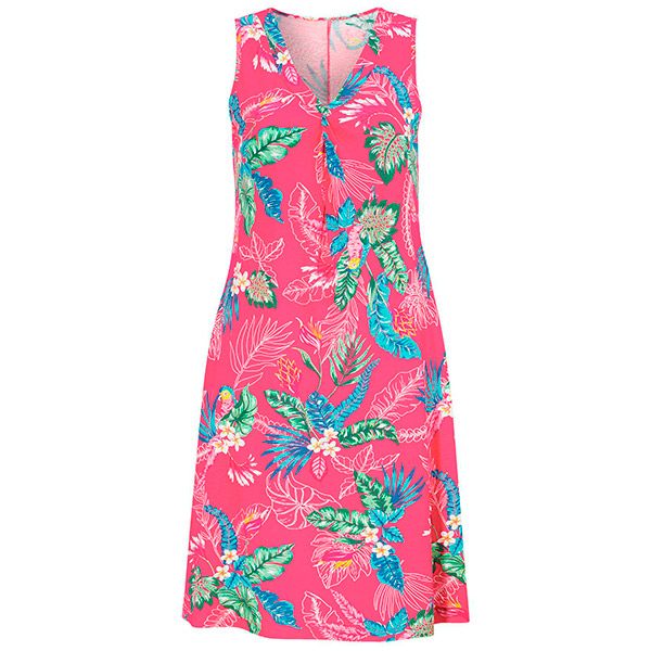 Tropical knotted mekko pinkki