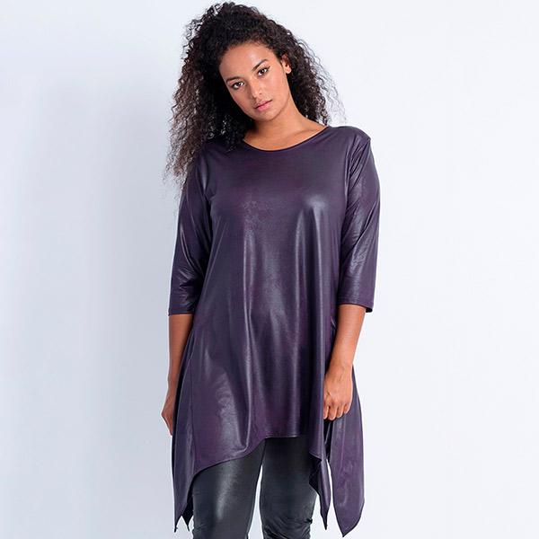 Magna Fashion Leather Look tunika violetti - Tunikat  d0db28e544