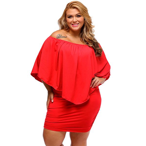 2-osainen kortti, hääparille, punainen mekko