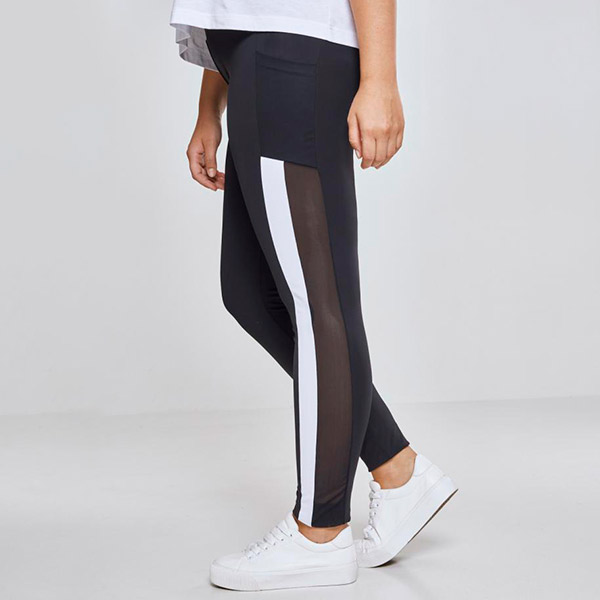 Urban Classics Tech Mesh Striped Pocket leggingsit