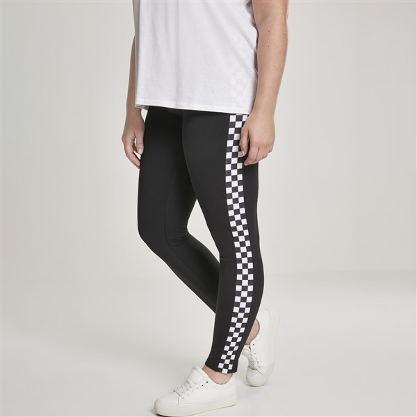 Urban Classics Side Check leggingsit ruutu/musta