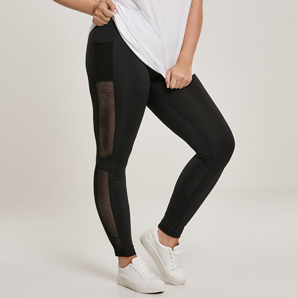 Urban Classics Mesh Side Stripe leggingsit musta