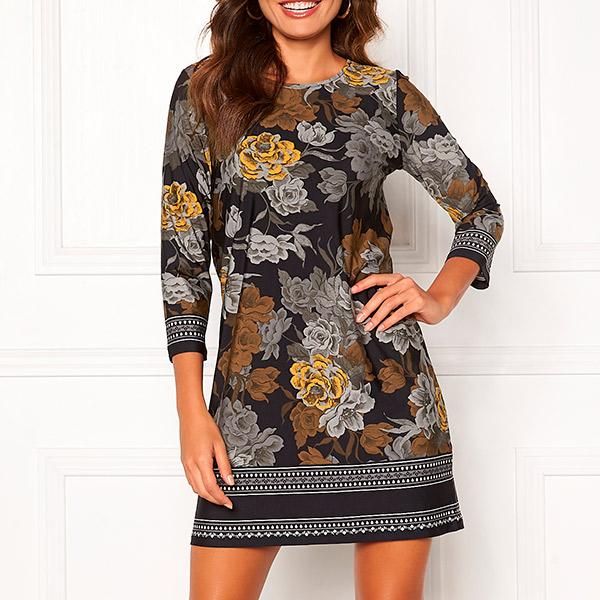 Happy Holly Blenda mekko mustakukkakuvio Mekot