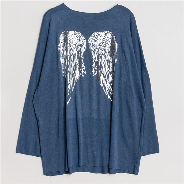 New Collection neule Wings sininen