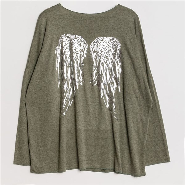 New Collection neule Wings khaki