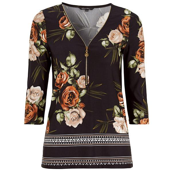 Happy Holly Fanny paita mustakukkakuvio Paidat | Jills.fi