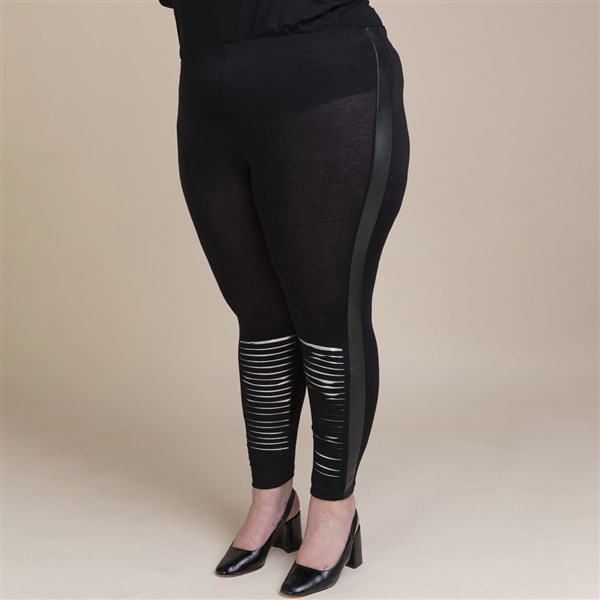 Pomme Rouge Cutted leggingsit musta/hopea