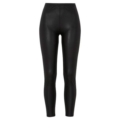 Leatherlook leggingsit musta