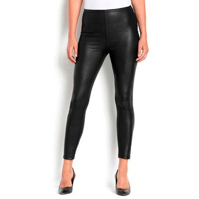 Leana leatherlook leggingsit musta