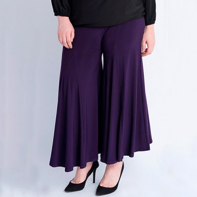 Magna Fashion Wide Leg housut tummanvioletti